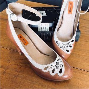 Miz Mooz Callista Ankle Strap Retro Heels